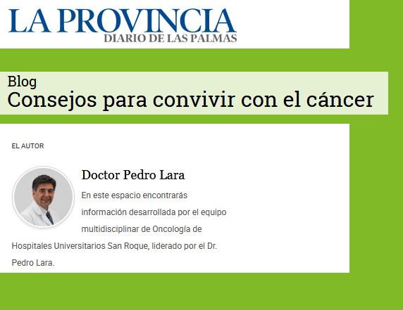 Pedro Lara Blog Cancer Periódico La Provincia