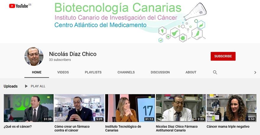 Nicolás Díaz Chico Youtube