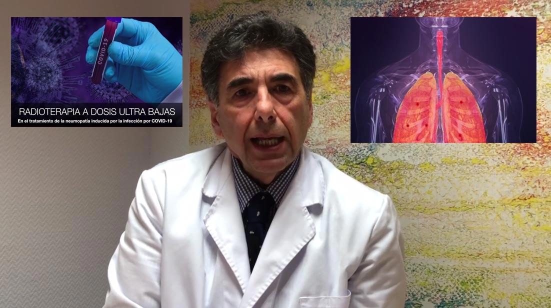 Pedro Lara COVID-19 radioterapia bajas dosis