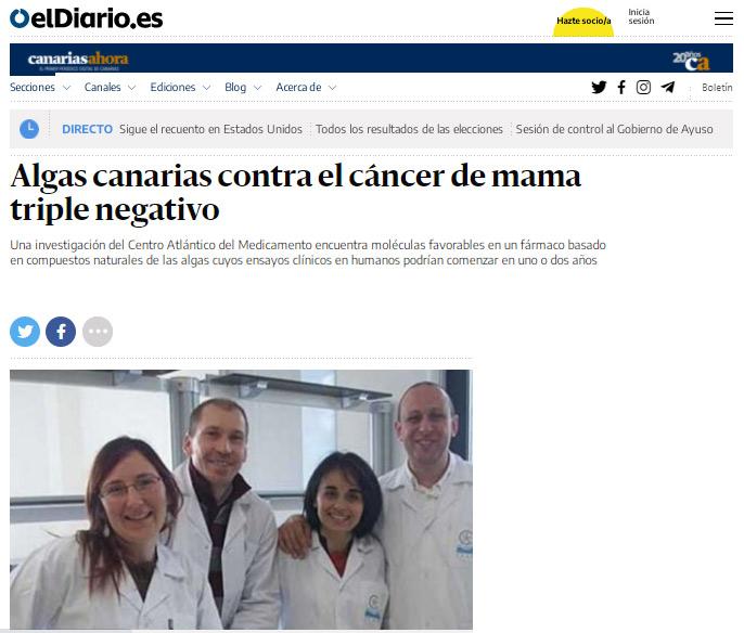 Farmaco Algas Cáncer